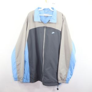 90s Nike Mens XL Spell Out Windbreaker Jacket Gray